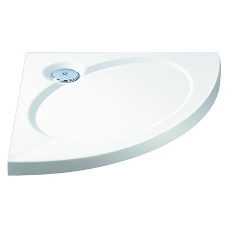 Coram - Designer Slimline Crescent Shower Tray - Various Size Options