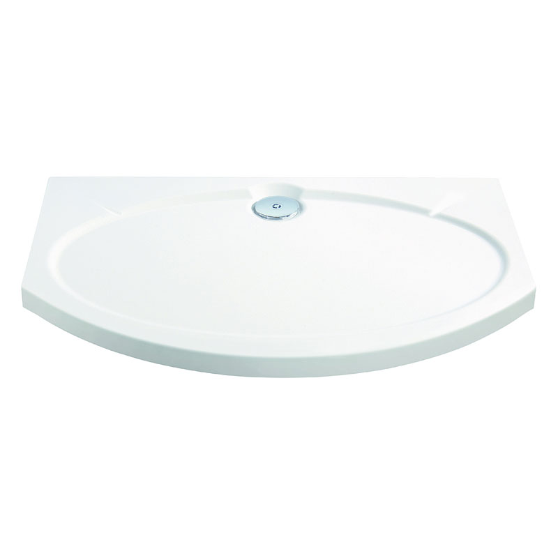 Coram Designer Slimline Bow Front Shower Tray - 1200 x 830mm - ASTS12WHI Large Image