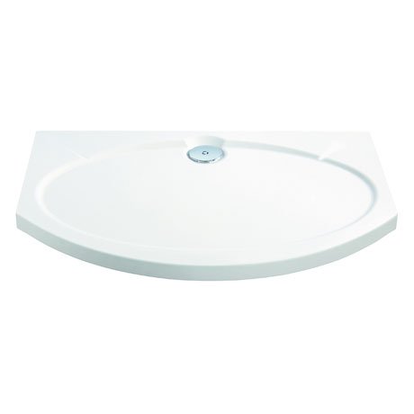Coram Designer Slimline Bow Front Shower Tray - 1200 x 830mm - ASTS12WHI