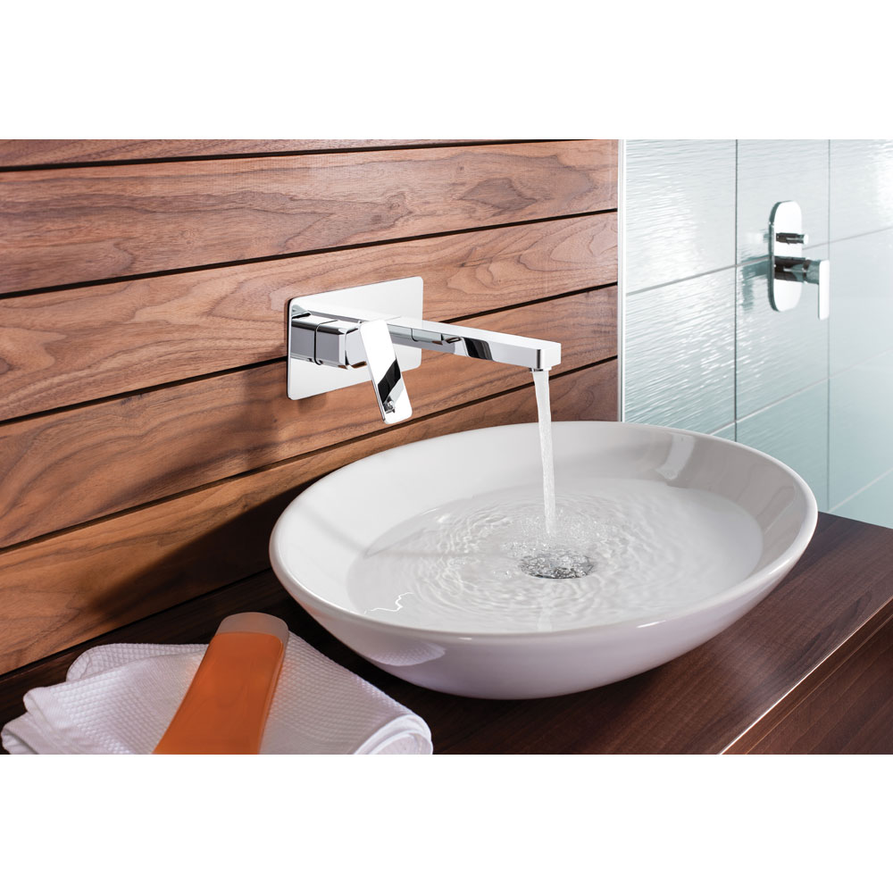 Crosswater - Atoll Wall Mounted 2 Hole Set Basin Mixer - AT121WNC Feature Large Image