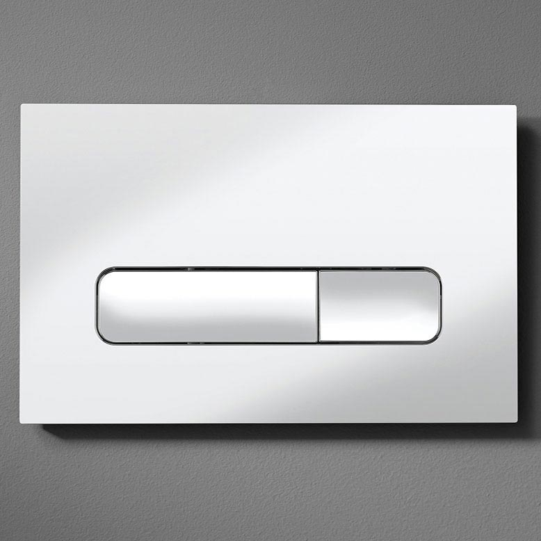 Bauhaus Atoll Chrome Flush Plate - ATFLUSHC Profile Large Image