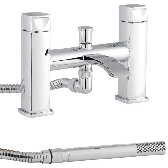 Premier - Series A Bath Shower Mixer with Shower Kit - Chrome - ATY334 profile large image view 1