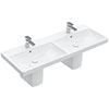 Villeroy and Boch Avento 1200 x 470mm Double Basin + Semi Pedestals profile small image view 1