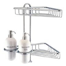 Crosswater - Solo Corner Double Wire Basket with Ceramic Dispensers - AV14 Medium Image