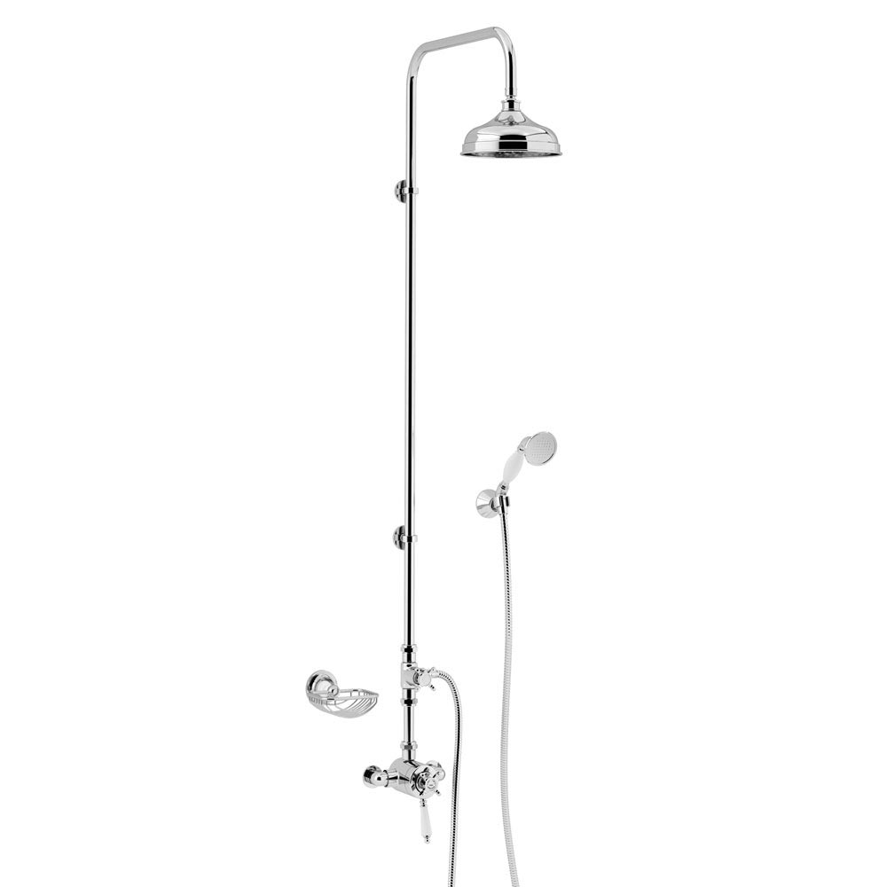 Heritage Avenbury Exposed Shower with Deluxe Fixed Riser Kit & Diverter to Handset - AVEDUAL01 Large
