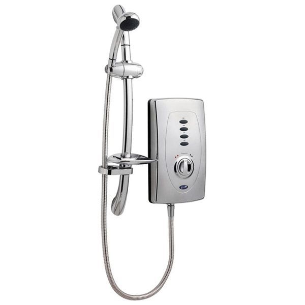 Ultra Chic 650 Slimline Electric Shower - 10.5kW - Chrome - AX311 profile large image view 1