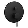 Arezzo Matt Black Round Concealed Manual Shower Valve with Diverter profile small image view 1