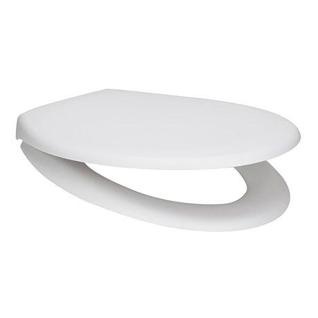 Arezzo Matt White Soft Close Toilet Seat