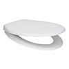 Arezzo Matt White Soft Close Toilet Seat profile small image view 1