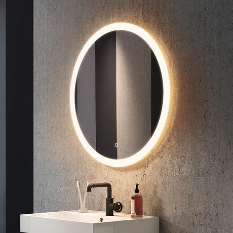 Arezzo 800mm Large Round LED Illuminated Anti-Fog Mirror