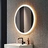 Arezzo 800mm Large Round LED Illuminated Anti-Fog Mirror profile small image view 1