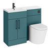 Arezzo 1000 Matt Green Combination Furniture Pack (Matt Black Flush & Handles) profile small image view 1