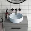 Arezzo 352mm Matt Blue Round Counter Top Basin profile small image view 1