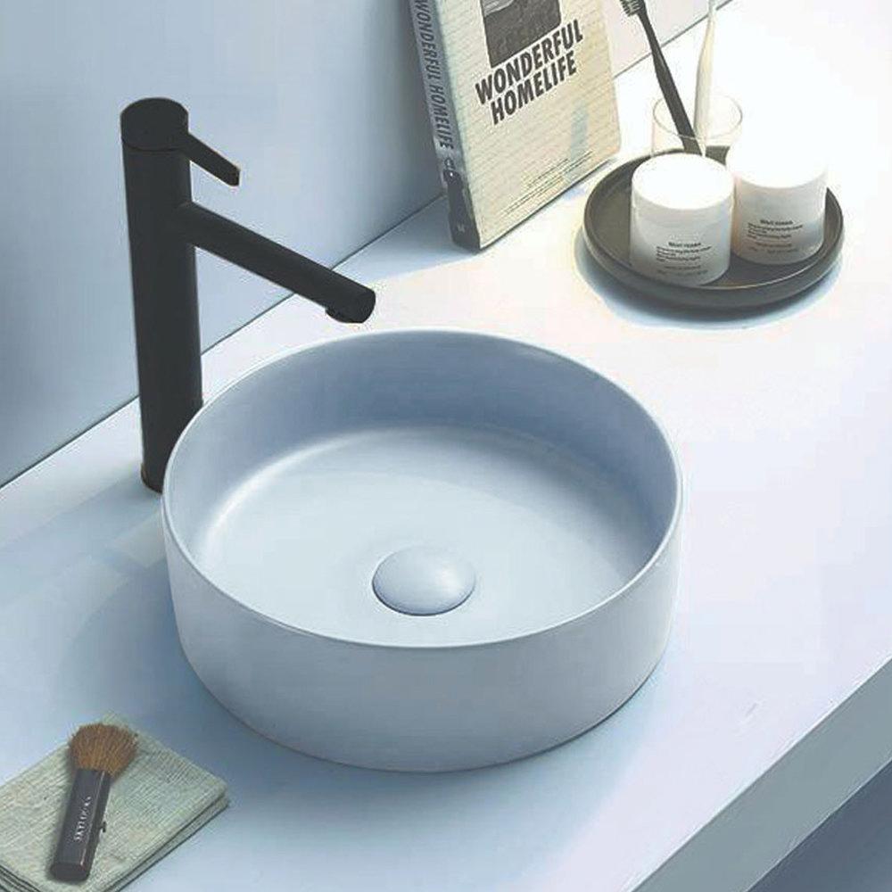 Arezzo 352mm Matt Blue Round Counter Top Basin