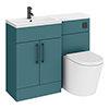 Arezzo 1100 Matt Green Combination Furniture Pack (Matt Black Flush & Handles) profile small image view 1