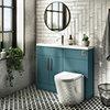 Arezzo 1100 Matt Green Slimline Combination Vanity Unit (Chrome Flush & Handles) profile small image view 1