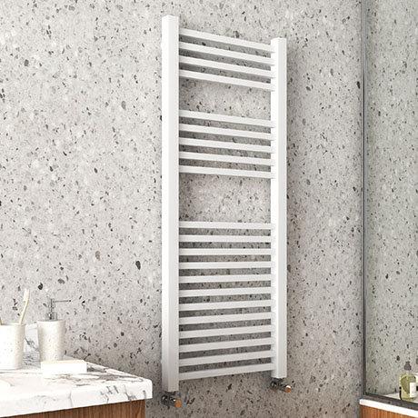 Arezzo Cube Matt White 1200 x 500 Heated Towel Rail
