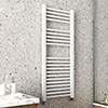 Arezzo Cube Matt White 1200 x 500 Heated Towel Rail profile small image view 1