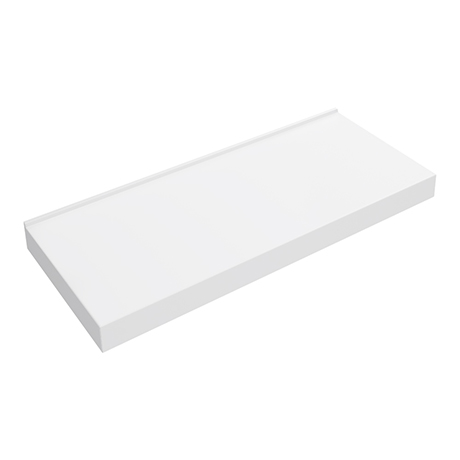 Arezzo 1200 x 500mm Stone Resin Wall Mounted Shelf for Counter Top Basins - Matt White