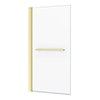 Arezzo Brushed Brass 785 x 1435mm Hinged Square Bath Screen + Rail profile small image view 1