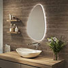 Arezzo 550 x 800mm Teardrop LED Backlit Bathroom Mirror with Anti-Fog profile small image view 1