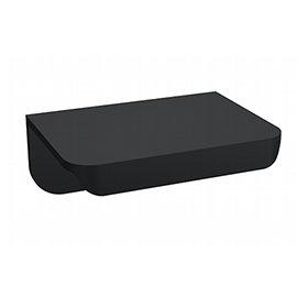 Arezzo Matt Black Small Rear Fixed Furniture Handle (50 x 36 x 21mm)