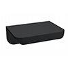Arezzo Matt Black Small Rear Fixed Furniture Handle (50 x 36 x 21mm) profile small image view 1