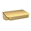 Arezzo Brushed Brass Small Rear Fixed Furniture Handle (50 x 36 x 21mm) profile small image view 1