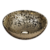 Arezzo Round 410mm Gold Mottled Design Ceramic Counter Top Basin profile small image view 1