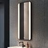 Arezzo Matt Black 600 x 1200mm Rectangular LED Illuminated Anti-Fog Bathroom Mirror profile small image view 1