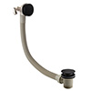 Arezzo Matt Black Round Slimline Freeflow Bath Filler Waste and Overflow profile small image view 1