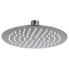Arezzo Round 200mm Brushed Gunmetal Grey Fixed Shower Head profile small image view 1