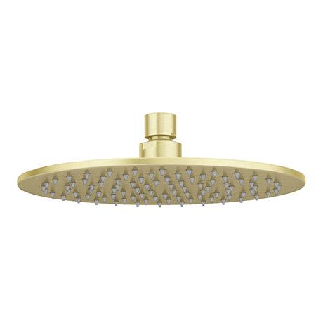Arezzo Round 200mm Brushed Brass Fixed Shower Head