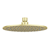 Arezzo Round 200mm Brushed Brass Fixed Shower Head profile small image view 1