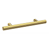 1 x Arezzo Industrial Style Knurled 'T' Bar Brushed Brass Handle (96mm Centres) profile small image view 1