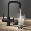 Arezzo Matt Black Instant Boiling Water Kitchen Tap (Includes Tap, Boiler + Filter) profile small image view 1