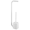 Arezzo White Free Standing Toilet Brush + Roll Holder profile small image view 1