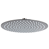 Arezzo Round 300mm Brushed Gunmetal Grey Fixed Shower Head profile small image view 1