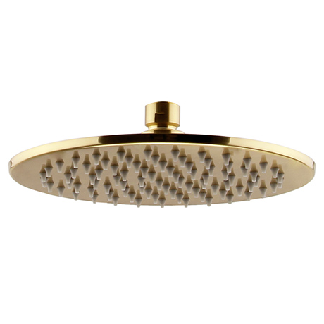 Arezzo Round 300mm Brushed Brass Fixed Shower Head