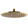 Arezzo Round 300mm Brushed Brass Fixed Shower Head profile small image view 1