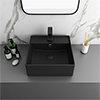 Arezzo 405mm Matt Black Square Wall Mounted / Counter Top Basin profile small image view 1