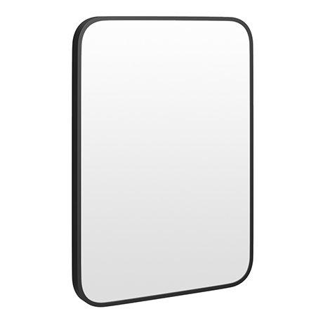 Arezzo Matt Black 700 x 500 Rectangular Mirror