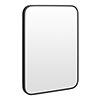 Arezzo Matt Black 700 x 500 Rectangular Mirror profile small image view 1