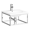 Arezzo 500 Wall Hung Basin with Chrome Towel Rail Frame profile small image view 1