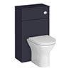 Arezzo 500 Matt Blue WC Unit with Cistern + Modern Pan profile small image view 1