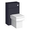 Arezzo 500 Matt Blue WC Unit with Cistern + Square Pan profile small image view 1