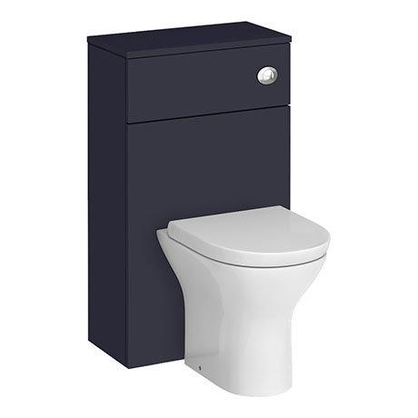 Arezzo 500 Matt Blue WC Unit with Cistern + Modern Pan