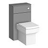 Arezzo 500 Matt Grey WC Unit with Cistern + Square Pan profile small image view 1