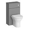Arezzo 500 Matt Grey WC Unit with Cistern + Modern Pan profile small image view 1