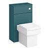 Arezzo 500 Matt Green WC Unit with Cistern + Square Pan profile small image view 1
